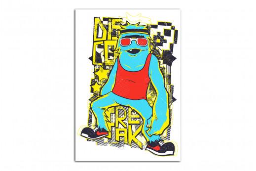 Постер диско фрик